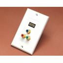 GNIAZDO PODTYNKOWE  HDMI/HDMI  oraz RGB RCA/RCA