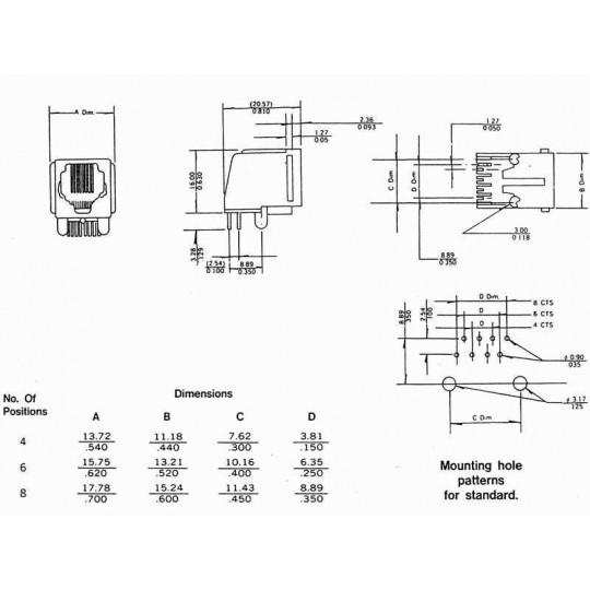 GNIAZDO MODULARNE RJ-9 seria 5744-011
