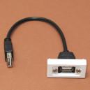 GNIAZDO USB/USB z kablem  45x22,5