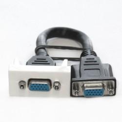 GNIAZDO VGA/VGA z kablem 45x22,5